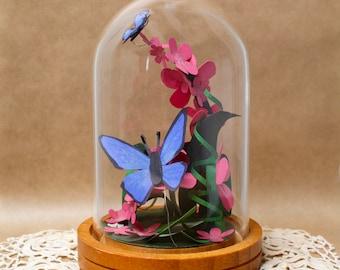 Butterfly Art/Original Art/Mini Paper Art Sculpture/Cute Ladybug Room Decor/Paper Art/Home Decor Art/Baby Shower Gift/Cute Gift for Friends