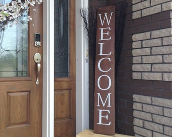 Welcome Sign, Wood Signs, Front Door Decor, Rustic Welcome Sign,  Housewarming Gift, Welcome Home Sign, Wood Wall Art, Rustic Home Decor
