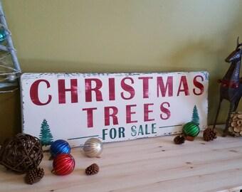 Christmas Tree Sign, Christmas Trees For Sale sign, Christmas Trees for Sale, Farmhouse Christmas Sign, Rustic Christmas Sign