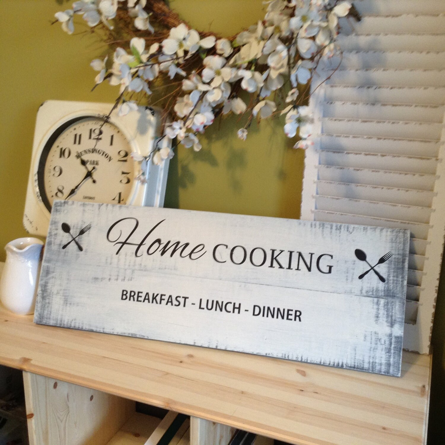 A Kitchen Is Launching An Express Lunch Service: Kitchen Sign Home Cooking Breakfast Lunch Dinner Home