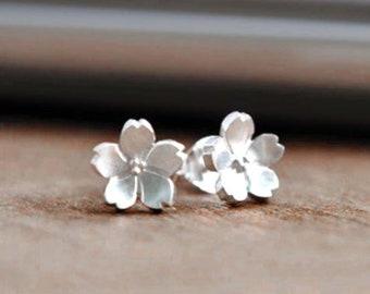 Flower earrings studs etsy daisy flower earrings 925 sterling silver earrings small flower earrings stud white flower earrings silver earrings yoga earrings studs mightylinksfo