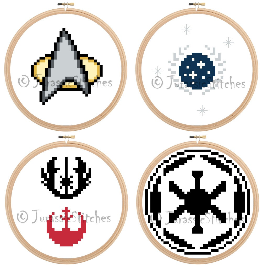 Tiny Wee Symbols Like Star Trek And Star Wars Symbols Cross Etsy