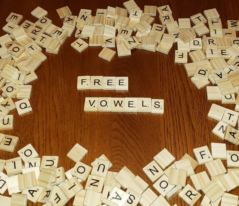 Free Vowells Individual Scrabble Letters Racks Jewelry Art Projects Etc Now With Lowercase Letters