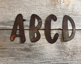 5 inch Letter Q Galvanized Metal Tin New wall decor crafts FREE SHIPPING