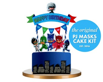 PJ Masks Cake Topper Pj Birthday Party Decorations