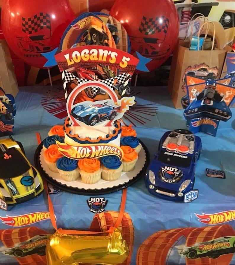 Hot Wheels Cake Topper Hot Wheels Party Hot Wheels Birthday Etsy