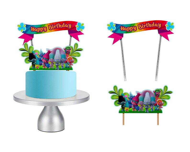 Trolls Cake Topper