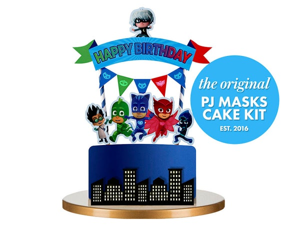 PJ Masks Cake Topper Pj Birthday Party
