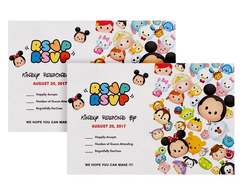 Tsum Rsvp Cards Invitation Birthday