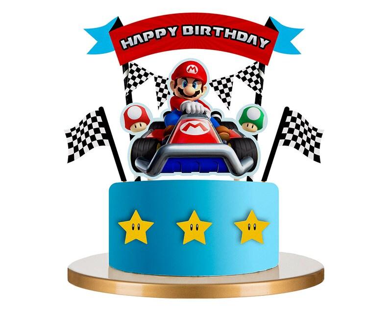 Super Mario Bros Birthday Cake Topper Birthday Cake Image