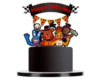Five Nights at Freddy's cake topper, FNAF Cake Topper, Five Nights at Freddy's centerpiece, FNAF Favors, Five Nights at Freddy's Cake