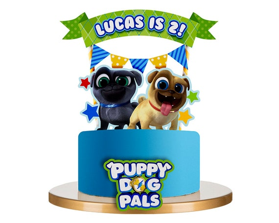 12 Disney Jr Puppy Dog Pals Cupcake Cake Topper Food Pick Favor Birthday Party