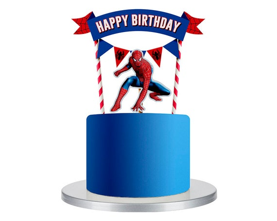 Etsy Spiderman Cake Topper
