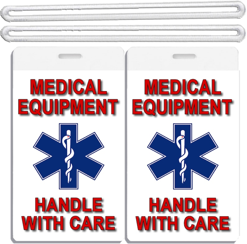 8201f58b259e 2x Medical Equipment Id Luggage Tags Handle With Care TSA Carry-On CPAP  BiPAP Sleep APNEA Respiratory Devices Tag Set