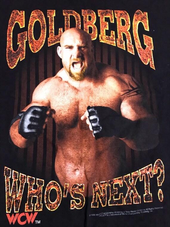 Vintage 90s GOLDBERG Who's Next wcw wwe wwf wrestl