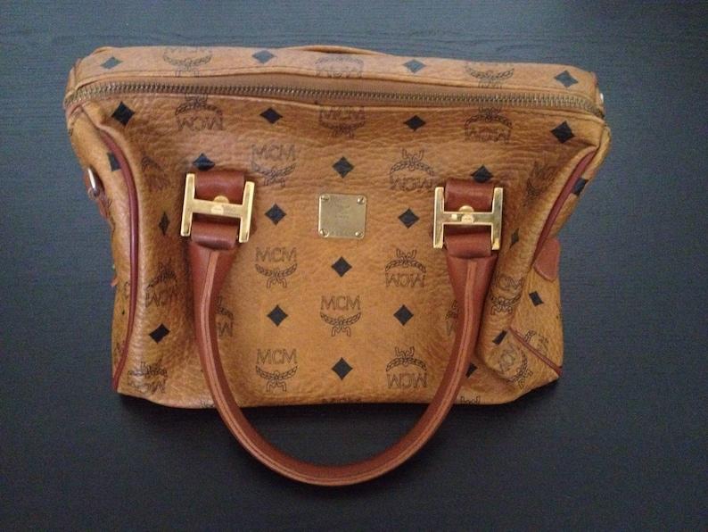 aa9a1bb30 Vintage 80s MCM bag purge speedy boston bag monogram leather | Etsy