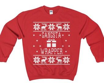 Bearded And Jolly - Unisex Ugly Christmas Sweatshirt UgJA2Gh7dW