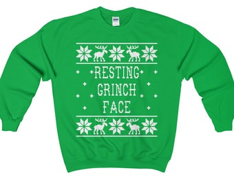Grinchin Aint Easy - Unisex Ugly Christmas Sweatshirt - The Grinch