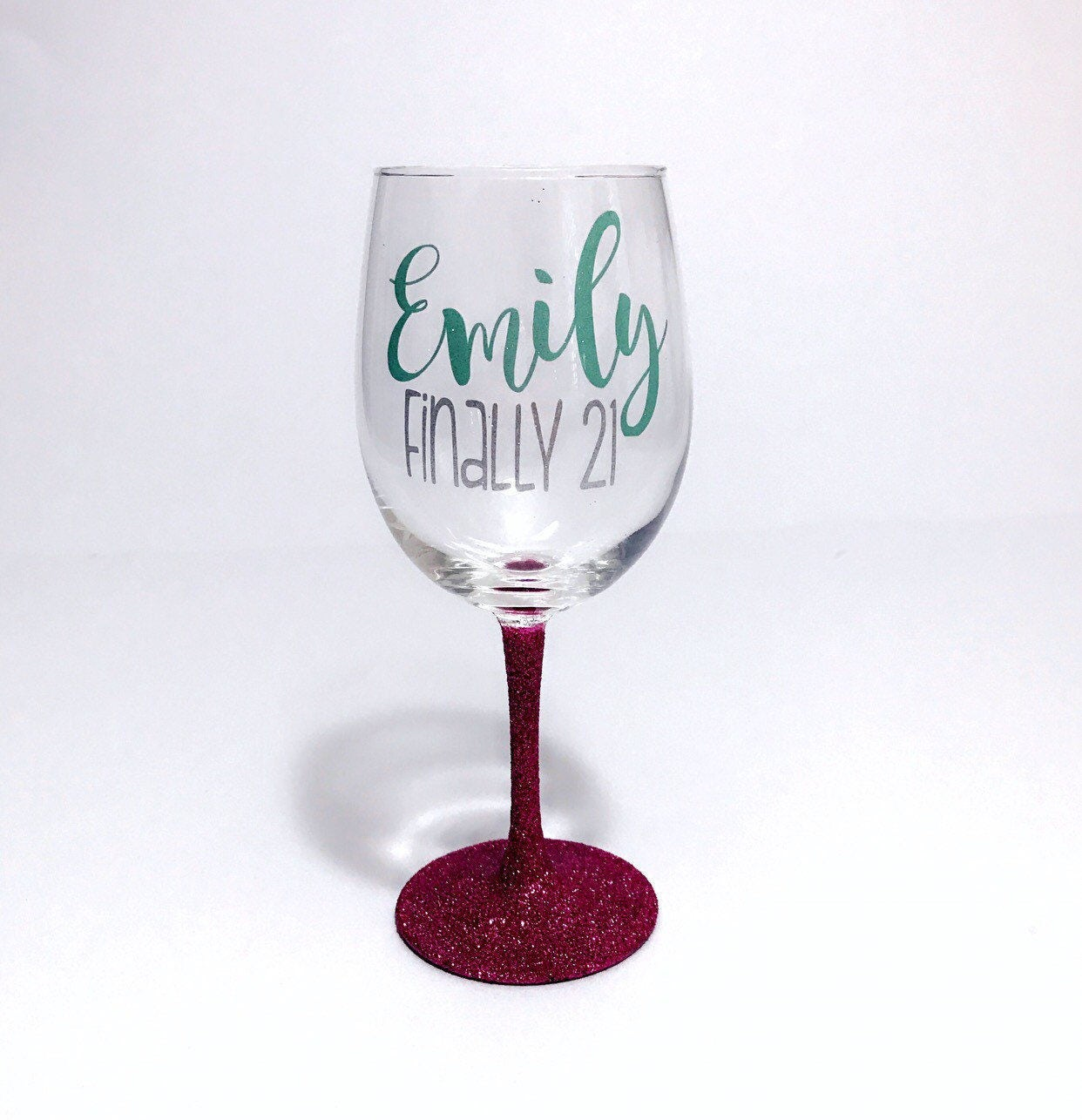 Personalized Name Wine Glass 21st Birthday Gift For Her