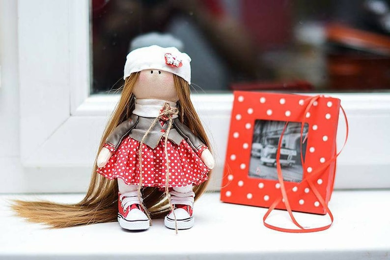 Handmade Doll Fabric Doll Red Doll Beautiful Doll Textile Doll Tilda Doll  Susy Doll Super Gift For Girl