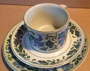 Midwinter Stonehenge Caprice Teacup, Saucer and Side Plate