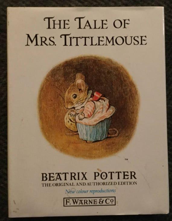 Dollshouse Libro Miniatura-la Sra Tittlemouse por Beatrix Potter
