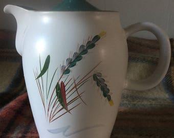 1960s Denby Greenwheat Teapot