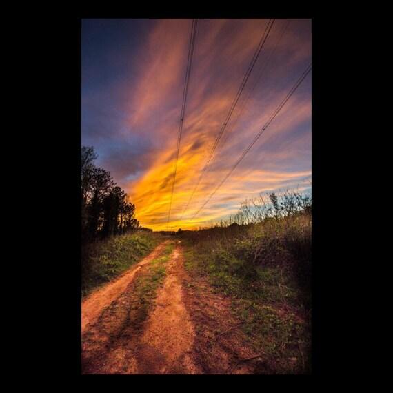 Landscape Of Atlanta: Nature Photography Landscape Suburban Atlanta Sunset Art