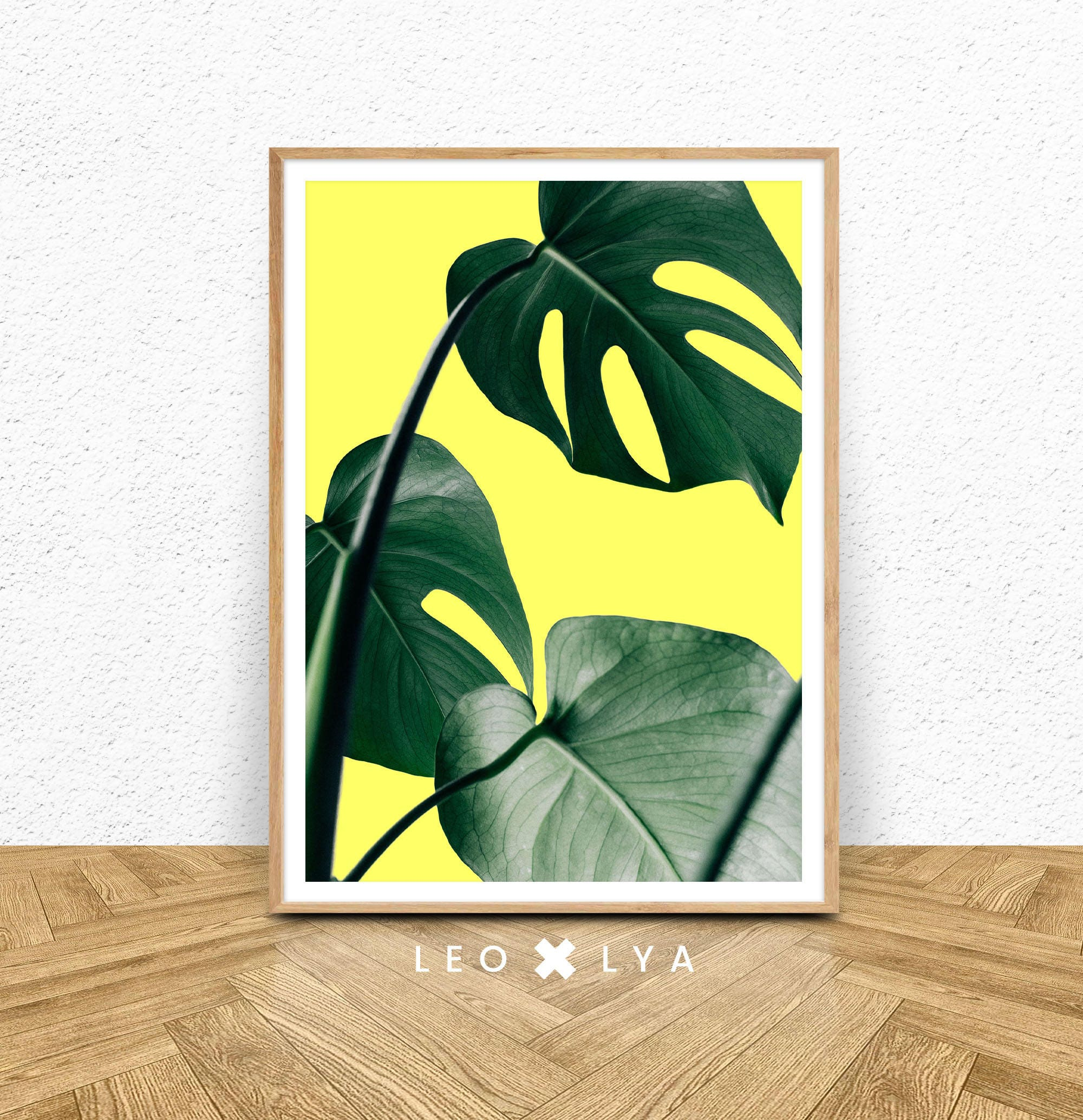 Monstera Leaf Print Tropical Plant Wall Art Printable Wall | Etsy