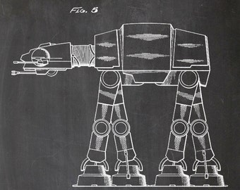 Star Wars, AT-AT Imperial Walker, print, patent, print, wall art, wall art, A4, movie, gift for men, science fiction, Hollywood