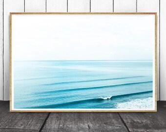 Ocean Print, Ocean Water Waves, Ocean Water Photo, Waves Print, Water Print, Ocean Photography, Ocean Art, Ocean Decor, Ocean Waves Print