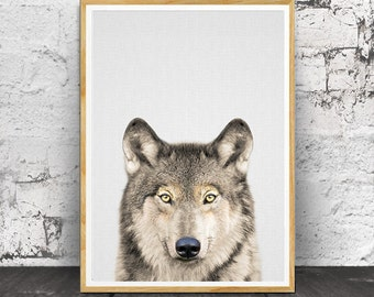 Wolf Print, Nursery Animals, Nursery Wall Art, Nursery Print, Nursery Decor,  Nursery Wolf, Nursery Animal Print, Nursery Printable, Animal