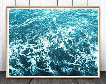 Ocean Print, Ocean Decor, Ocean Waves Print, Ocean Water Print, Ocean Wall Art, Ocean Art, Sea Print,  Water Print, Sea Wall Art, Sea Decor