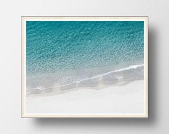 Beach Wall Art, Beach Decor,Coastal Wall Art, Ocean Print, Beach Print, Ocean Photography, Ocean Waves Print, Wave Wall Art, Water Print