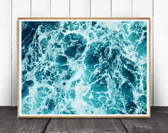 Ocean Print, Ocean Waves, Ocean Art, Ocean Water, Ocean Decor, Sea Decor,  Ocean Photography, Ocean Wall Art, Ocean Waves Print, Sea art