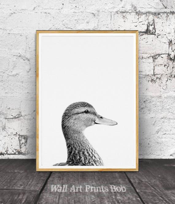 Duck Print Duck Wall Art Nursery Animals Nursery Animal | Etsy