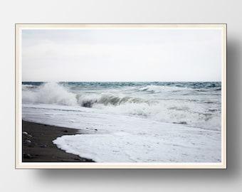Beach Wall Art, Beach Print, Beach Decor,Coastal Wall Art, Ocean Print, Ocean Photography, Ocean Waves Print, Wave Wall Art, Water Print
