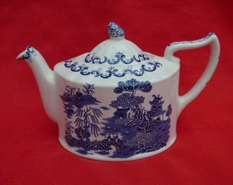 Masons for Ringtons Teapot, 75th Anniversary, Willow Pattern