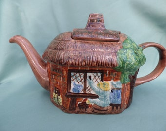 Vintage Novelty Cottage Ware Teapot, Woods of Burslem, Staffordshire Quality