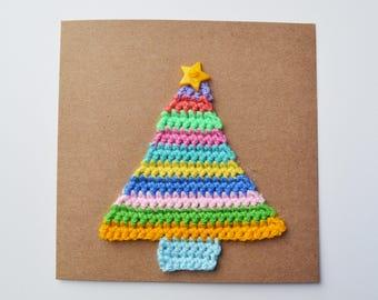 Crochet Christmas Tree Card