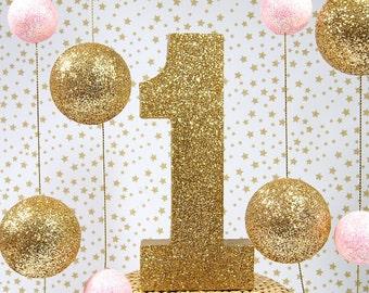 I Am One Birthday Decoration, Birthday Decor, Pink and Gold Birthday, First Birthday