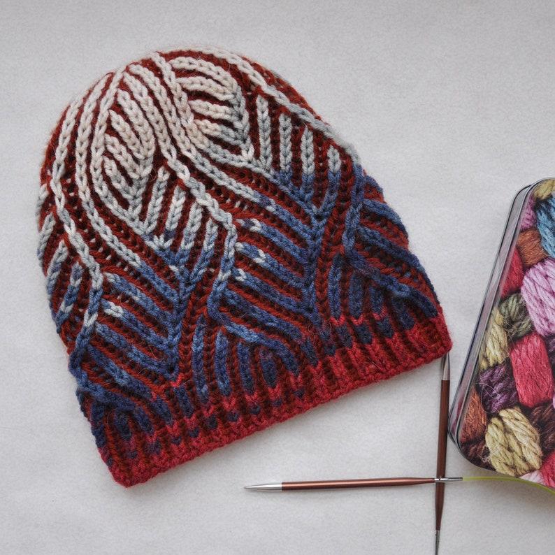 Brioche stitch Hat. Womens Knit Cap. Winter hat hand made.  8d90cfd0e19