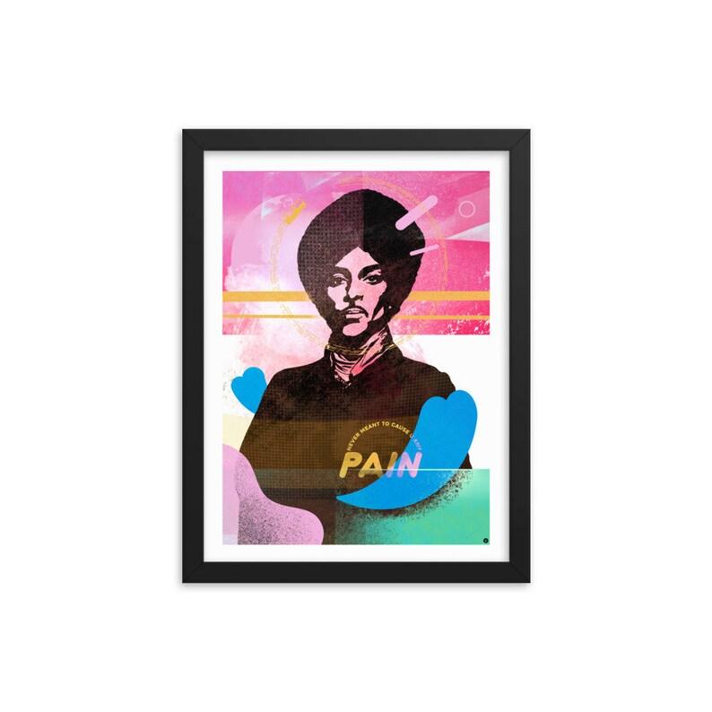 Prince /  Framed Print / Prince Fan Gift / Prince Fan / Rock image 0