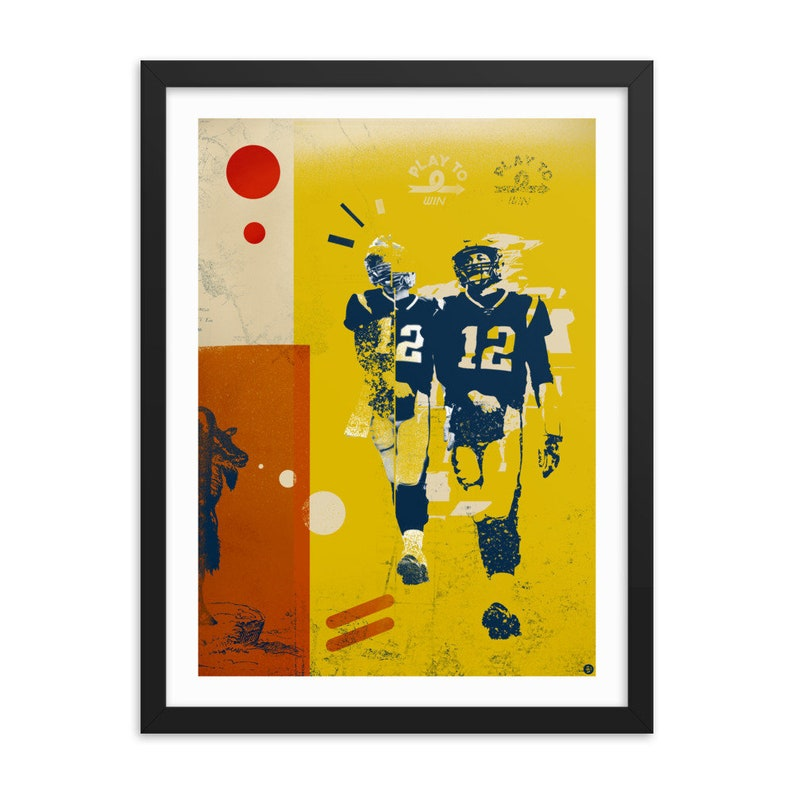 Tom Brady Framed Art Print / Goat / The Goat  / Tom Brady / image 0