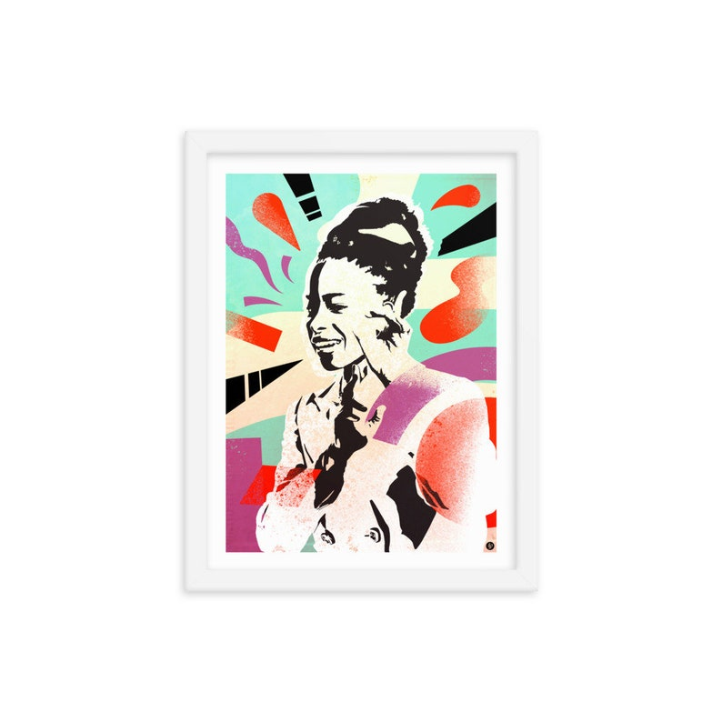 Amanda Gorman Framed Art 12x16 / Inauguration Speech / Poet image 0