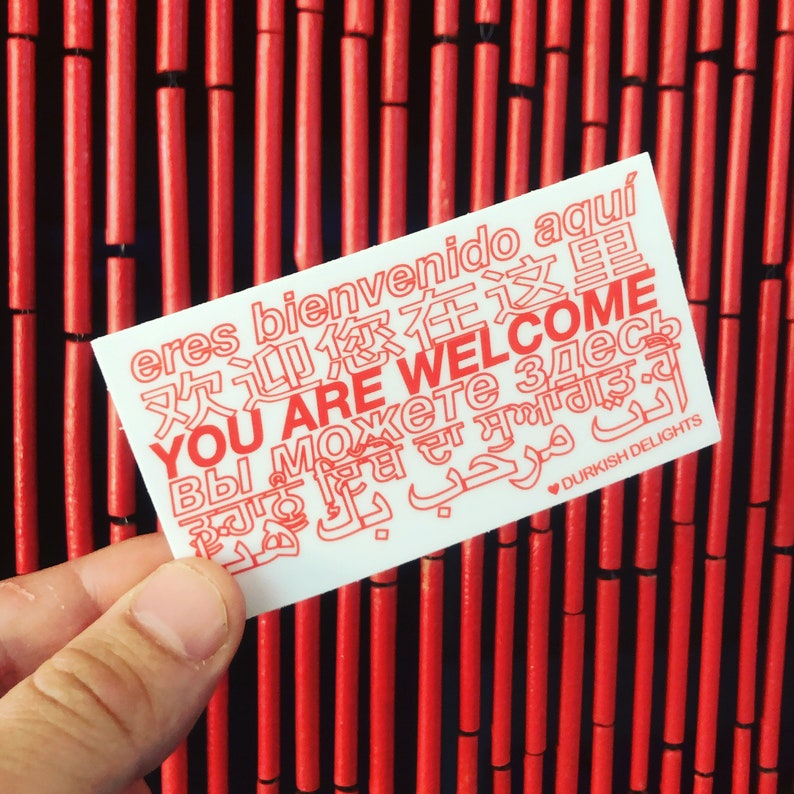 You Are Welcome Sticker 2x3.6 image 0