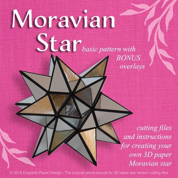 Moravian Paper Star Lantern Basic Design SVG CUTTING FILE