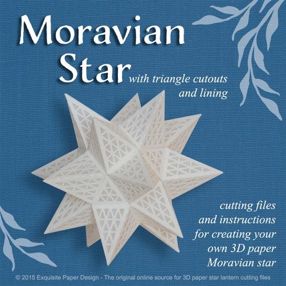 Moravian Paper Star w Triangle Cutouts SVG CUTTING FILE