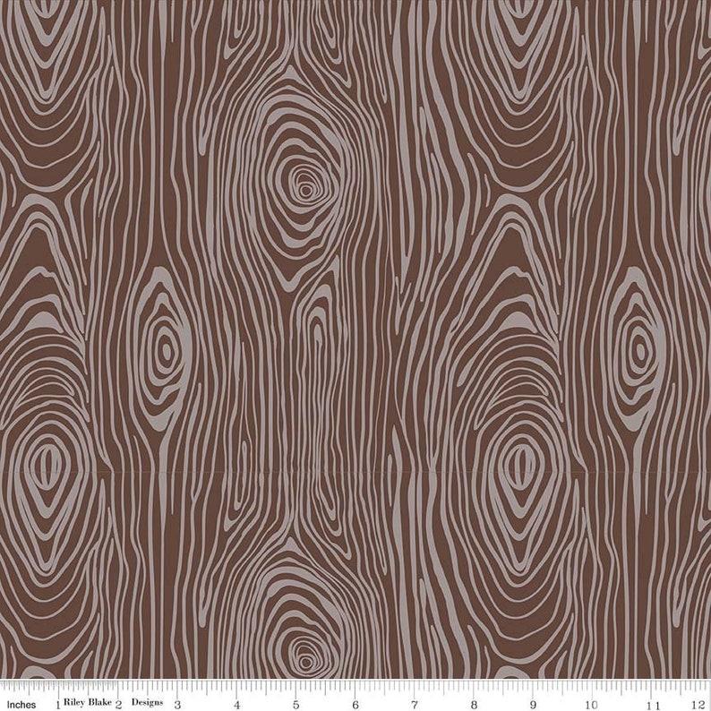 FLANNEL Woodgrain Brown Riley Blake #F5431-100/% Cotton Flannel Knock Wood Flannel Brown Wood Grain