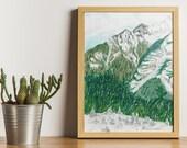 Montagnes slovènes (illustration originale)